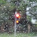 Rain on my windscreen at red light near home by loey5150