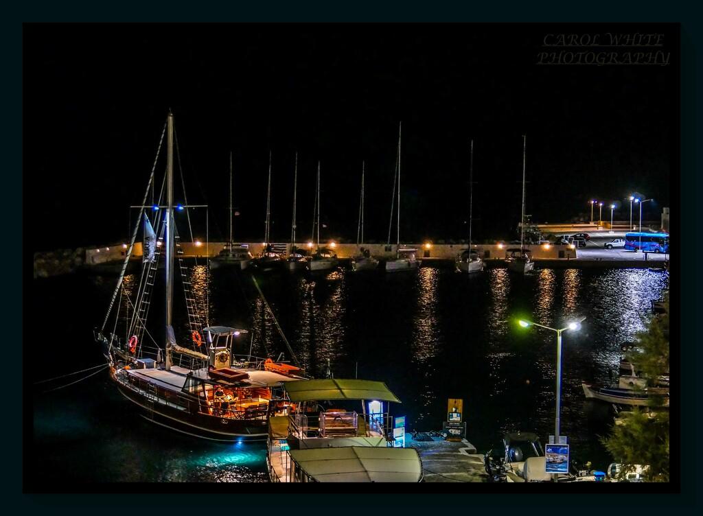 The Harbour At Night,Pera Gialos,Astypalaia by carolmw
