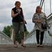 Crossing Wilford Suspension Bridge