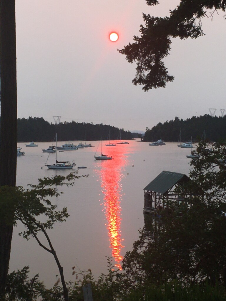 Smoky sunset by yoland