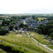 Aerial view of Corfe town