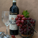 Chianti and grapes by theredcamera