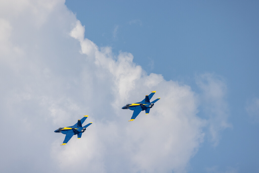 Blue Angels in the Clouds by jyokota