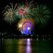 Fireworks through the Ferris Wheel