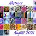 Abstract August 2021 Calendar by shutterbug49
