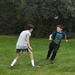 Grandsons' Casual Football In Our Yard