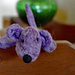 Little purple dog