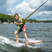 Learning to surf behind a boat