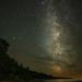 Milky Way Greets Jupiter  by taffy