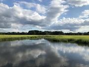 9th Sep 2021 - Salt marsh sky and cloud reflections