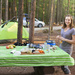 Dinner while camping