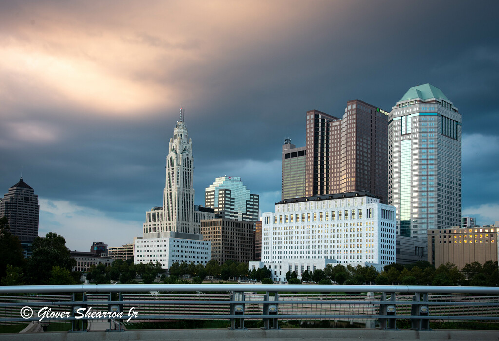Downtown Columbus as Evening Comes by ggshearron