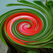 Pansy geranium abstract