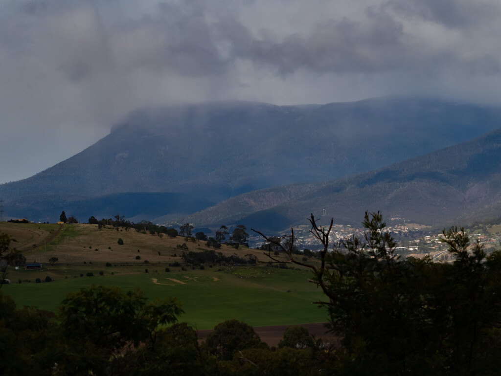 Mt Wellington in the clouds  by gosia