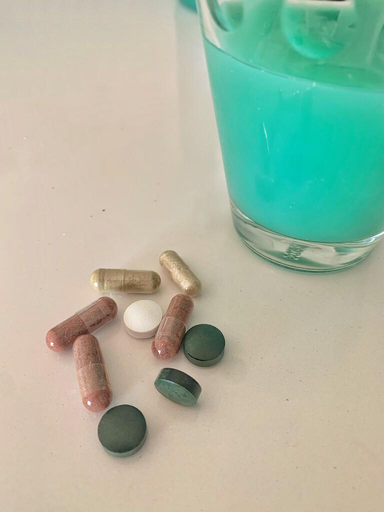 Pills and spirulin.  by cocobella