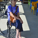 Mom waits in the shade