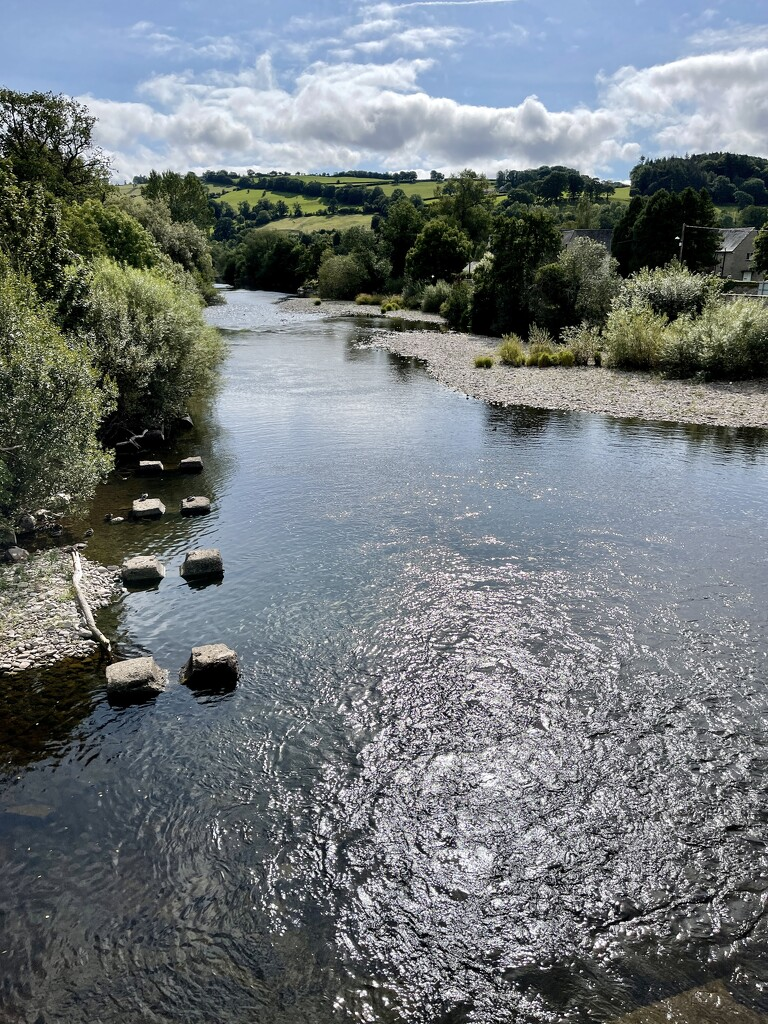 The River Usk at Brecon by tinley23