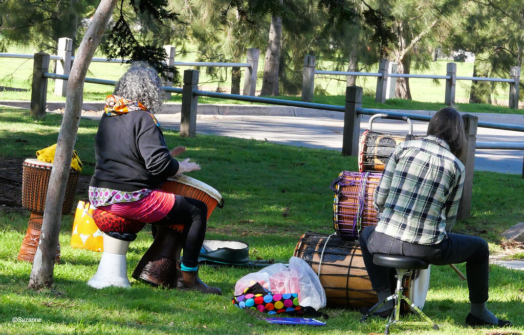 Drummers in the park by ankers70