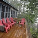 Rainy day on the deck.............