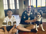26th Sep 2021 - Even the dog is a Saints fan