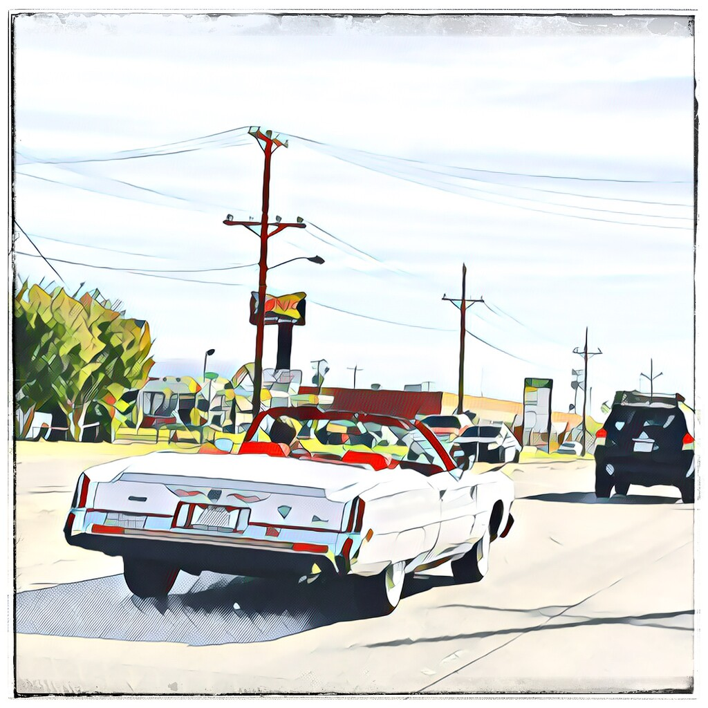 The Elvis convertible  by louannwarren