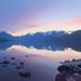 Sunset on McDonald Lake
