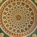 Ornamental ceiling.
