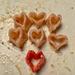 Pasta hearts.