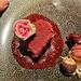 Chocolate cake heart.