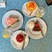 Four desserts.