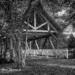 Covered Bridge in B&W