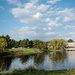 Paneramic view of pond at Homested Park
