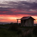 The old cottage at sunrise