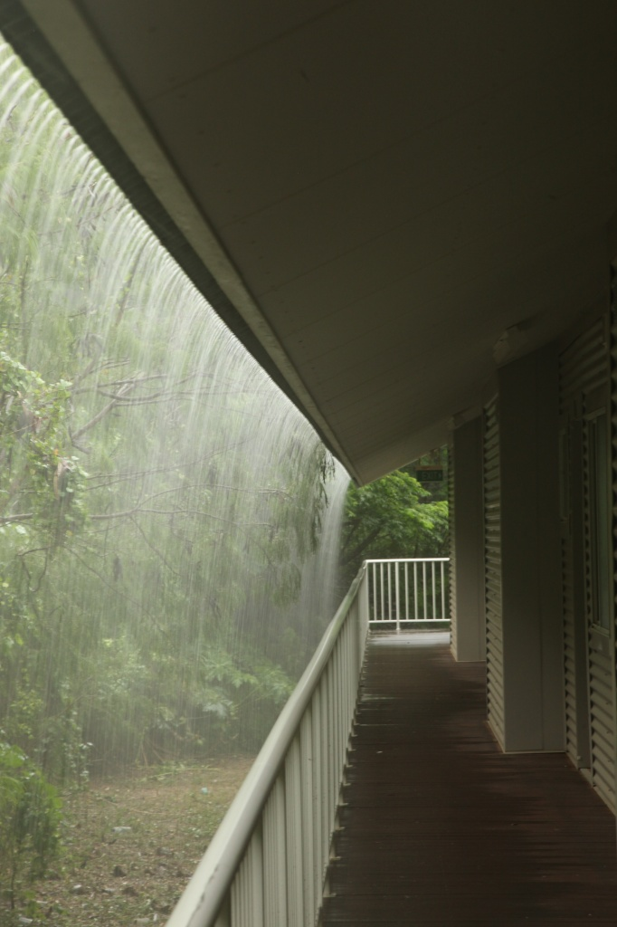 Monsoon rain - view outside my apartment front door today - not much photography happening today by lbmcshutter
