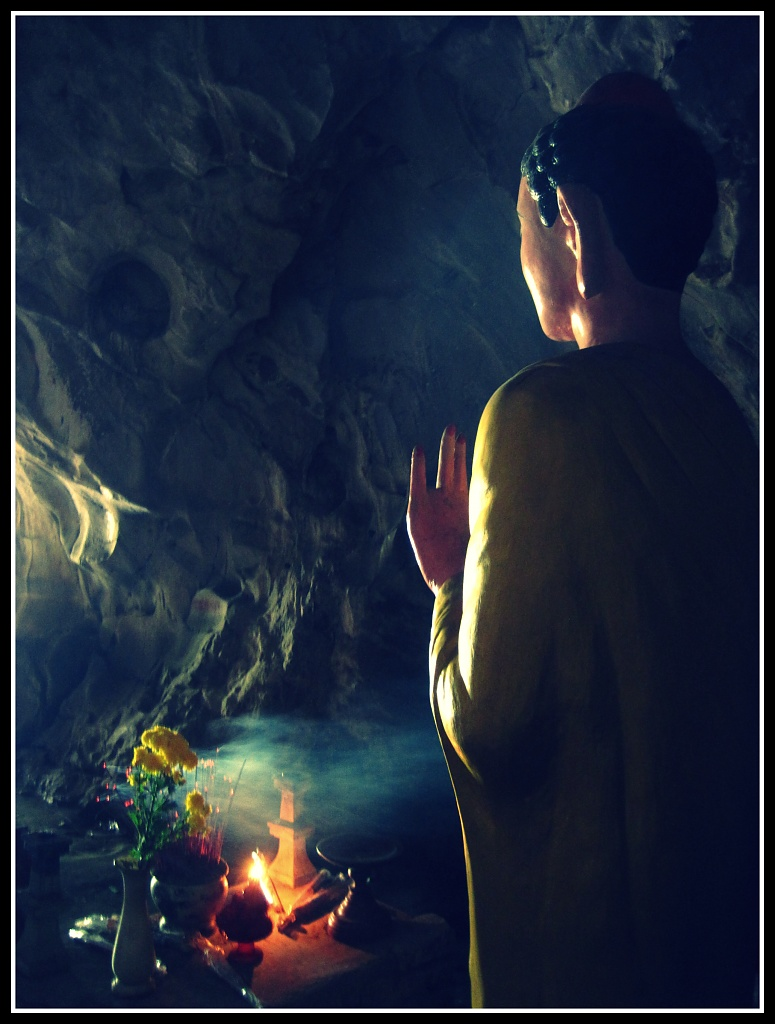 Buddha in a Cave by lily