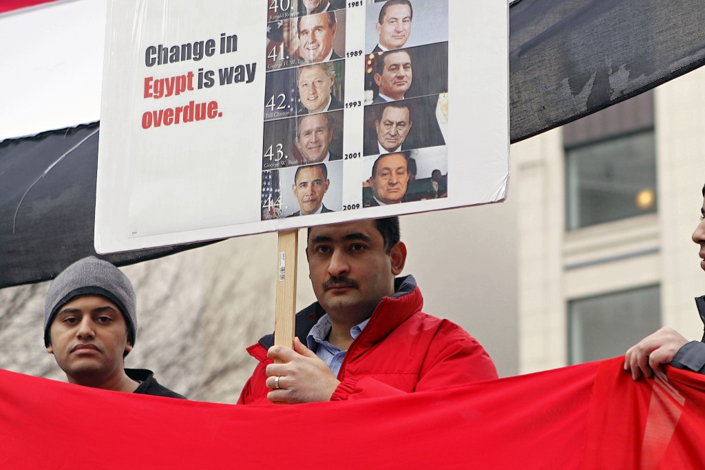 Protest For Change In Egypt Today at Westlake Plaza Seattle by seattle