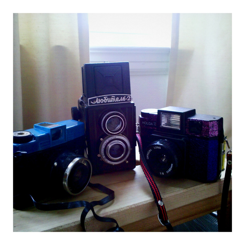 A Banner, Lubitel, and Holga walk into a bar... by hmgphotos