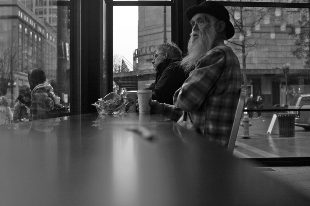 Watching Seattle Through Starbucks' Window by seattle